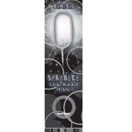 Number Zero - Silver Sparkler Candle