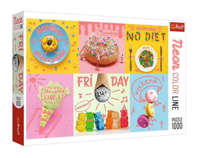 Trefl Neon Color Line - Sweet Week -  Puzzle (1000)