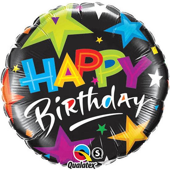 Happy Birthday Colourful Stars