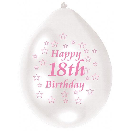 "9"" Happy 18th Birthday Latex Balloons"
