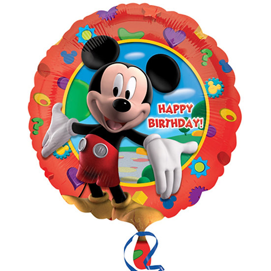 """Mickey Mouse Happy Birthday - Red 18"""""""