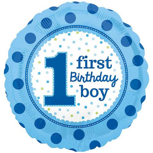 """Age 1 - First birthday Boy 18"""""""