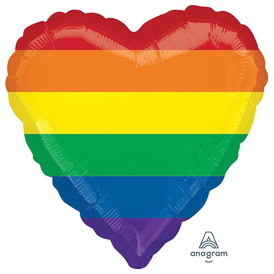 """Glittery Rainbow Heart 18"""" Balloon"""