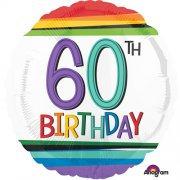 "60th Birthday Stripes - 18"" Foil"