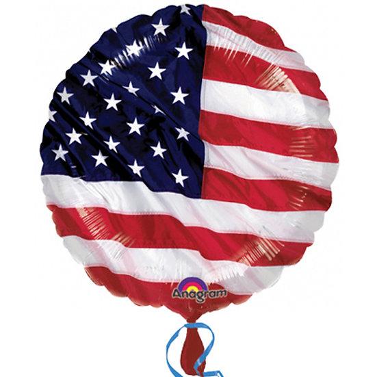 """American Flag 18"""" Foil Balloon"""