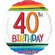 "40th Birthday Stripes - 18"" Foil"