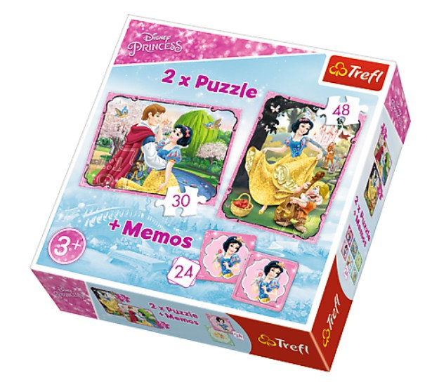 Trefl 30 pieces 2 Puzzles + Memo - Disney Princess