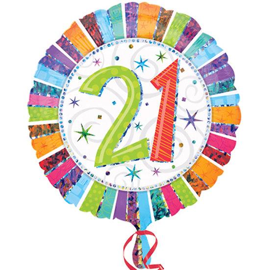 """Age 21 Colours 18"""" Foil"""