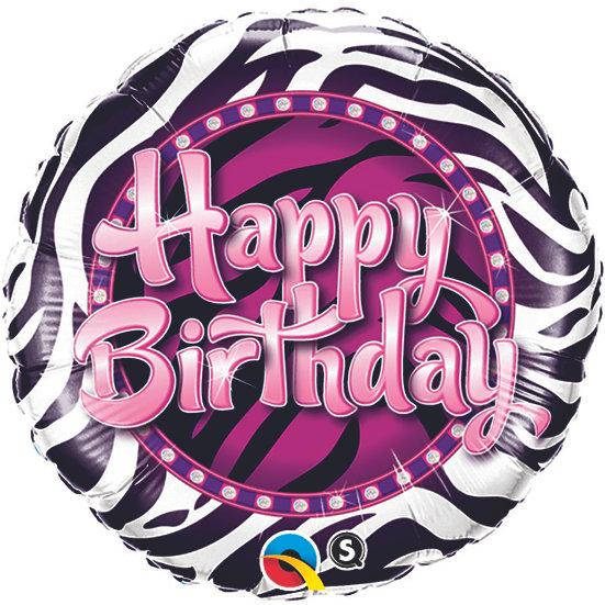 Happy Birthday - Zebra Print
