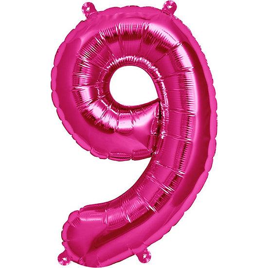 "34"" Number 9 - Pink"