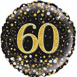 "Age 60 - Gold Glittery 18"" Foil"