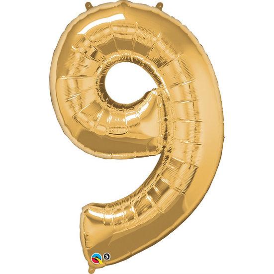 """34"""" Number 9 - Rose Gold"""