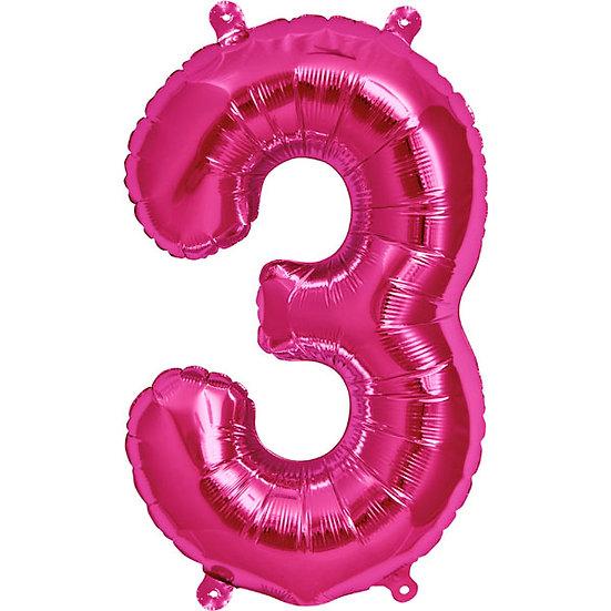 "34"" Number 3 - Pink"