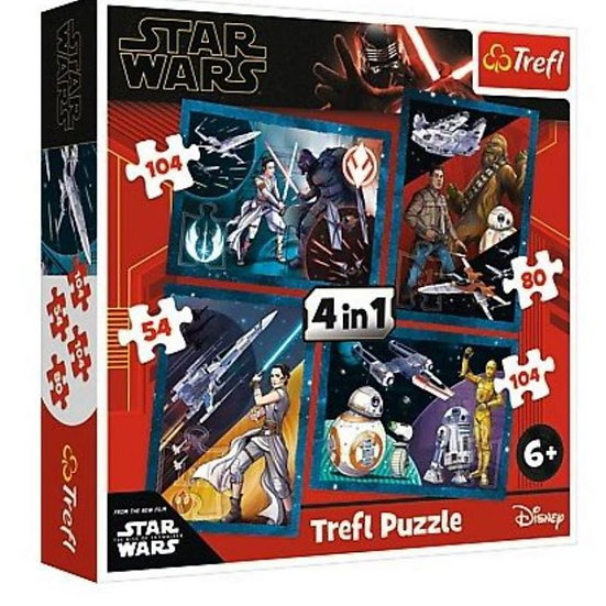 Trefl 54 pieces x 4 Puzzles - Star Wars (54)