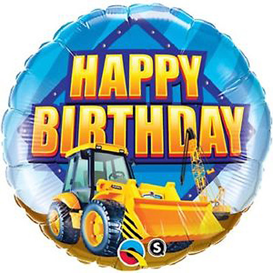 "Happy Birthday JCB 18"" Foil Balloon"