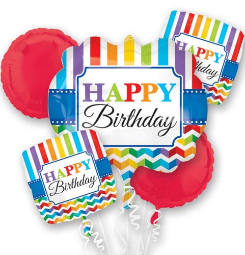 Balloon Bouquet - Jazzy Happy Birthday