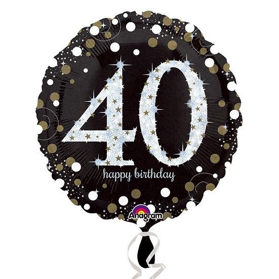 "40th Birthday - Black 18"""