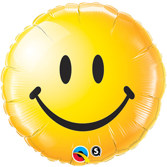 """Yellow smiley face 18"""" Foil"""