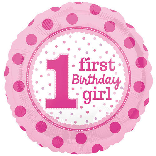 "First Birthday Girl - 18"" Foil"