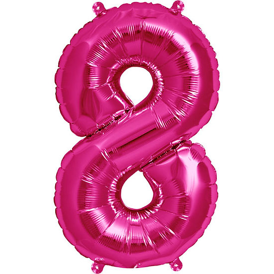 "34"" Number 8 - Pink"
