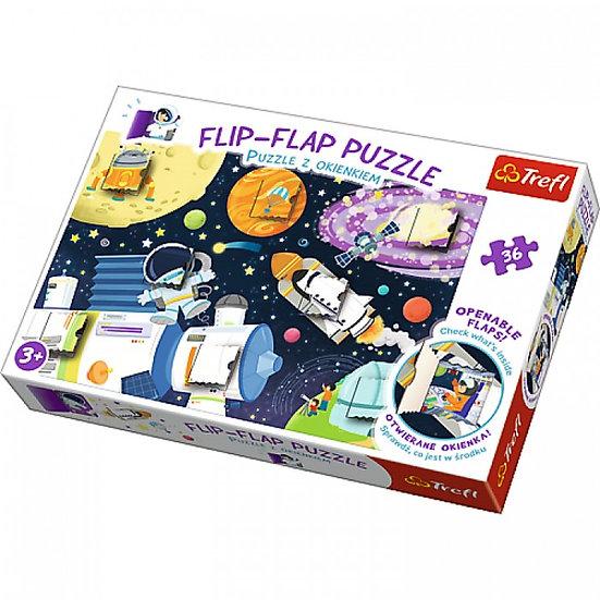 Trefl 36 pieces Flip Flap Puzzle - Space