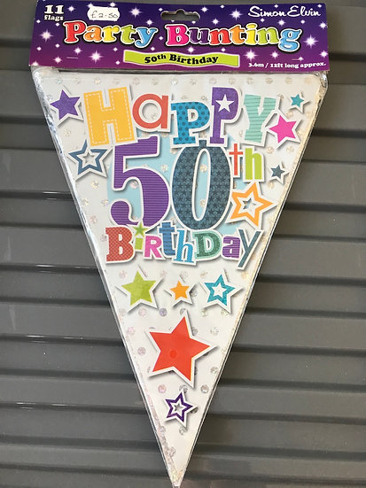 50th Birthday Bunting