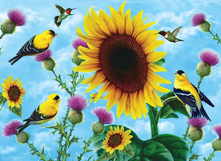 Sunsout - Sunflowers & Songbirds (500+)