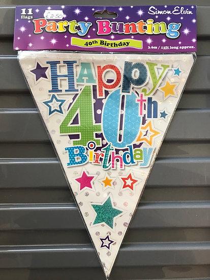 40th Birthday Bunting
