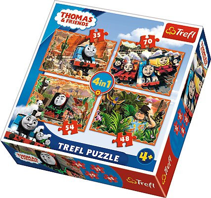 Trefl 35 pieces 4 Puzzles - Thomas & Friends