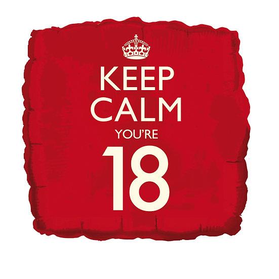 "Keep Calm You're 18 18"" Foil"