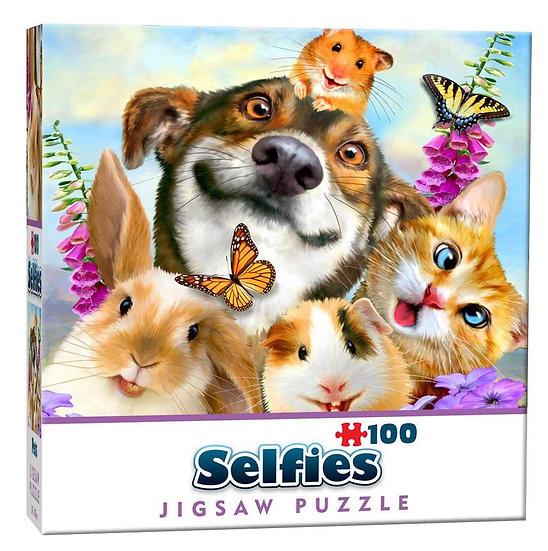 Pets Selfie Mini Jigsaw Puzzle (100)