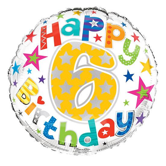 "Happy 6th Birthday - 18"""