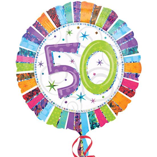 "50th Birthday Colours - 18"" Foil"