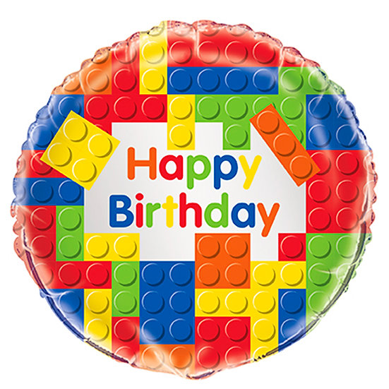 Lego Happy Birthday Balloon - 18""