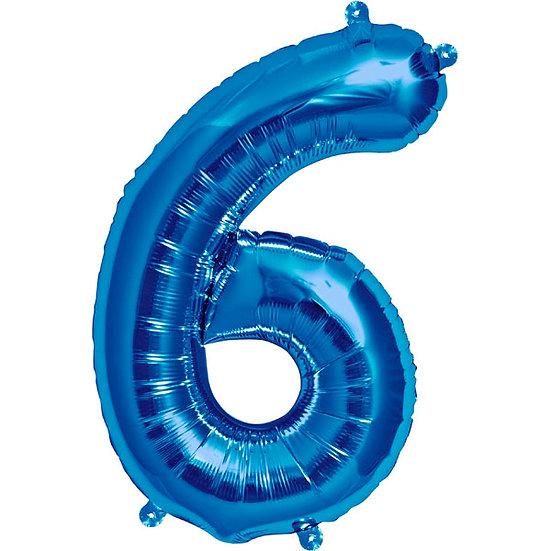"""34"""" Number 6 - Blue"""