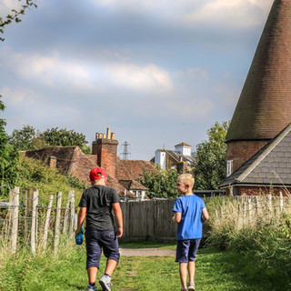 Two adventurers in the Kent countryside.