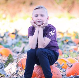 Little dude at the pumpkin patch, Halloween 2018