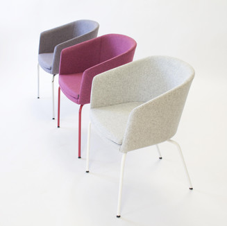 Nice clean product shot of the Chorus Furniture Drum Chair.