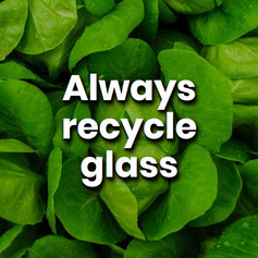 Glass is one of the best products in terms of recyclability, with a 90% material recovery rate. Recycle the glass you already have and reduce your carbon footprint.