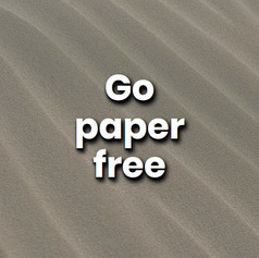 It is easy to use modern technology to limit your need for paper. Use your laptop for writing, switch to electronic bank statements, and read online newspapers.
