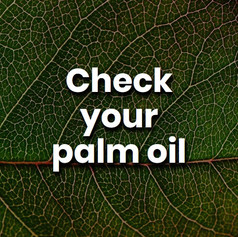 Palm Oil is not a bad product, it is just vegetable oil. We need to ensure it is farmed sustainably. You can do this by buying products with the RSPO certification.