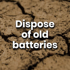 Bring your old batteries to the proper recycling facilities to dispose of them correctly. These can be found in any local shopping centre or public recycling centre.