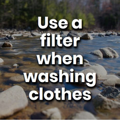 Your clothes shed microfibers and micro plastics with every wash. Using a specific clothes net designed to capture these fibres can remove 99% of the offending materials.