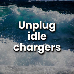 Phone and laptop chargers draw power even when not connected to anything. Why waste energy when the solution is so easy - Unplug that charger!