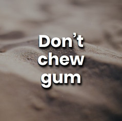 Chewing gum is flavoured plastic.