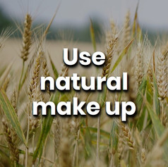 Try using make-up brands that make cosmetics using all-natural ingredients, these green beauty brands will also most likely be plastic-free.