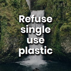 Scientists are predicting that by 2050 there will be more plastic in our oceans than fish. Do not use single-use plastic, instead try using reusable bottles and containers.