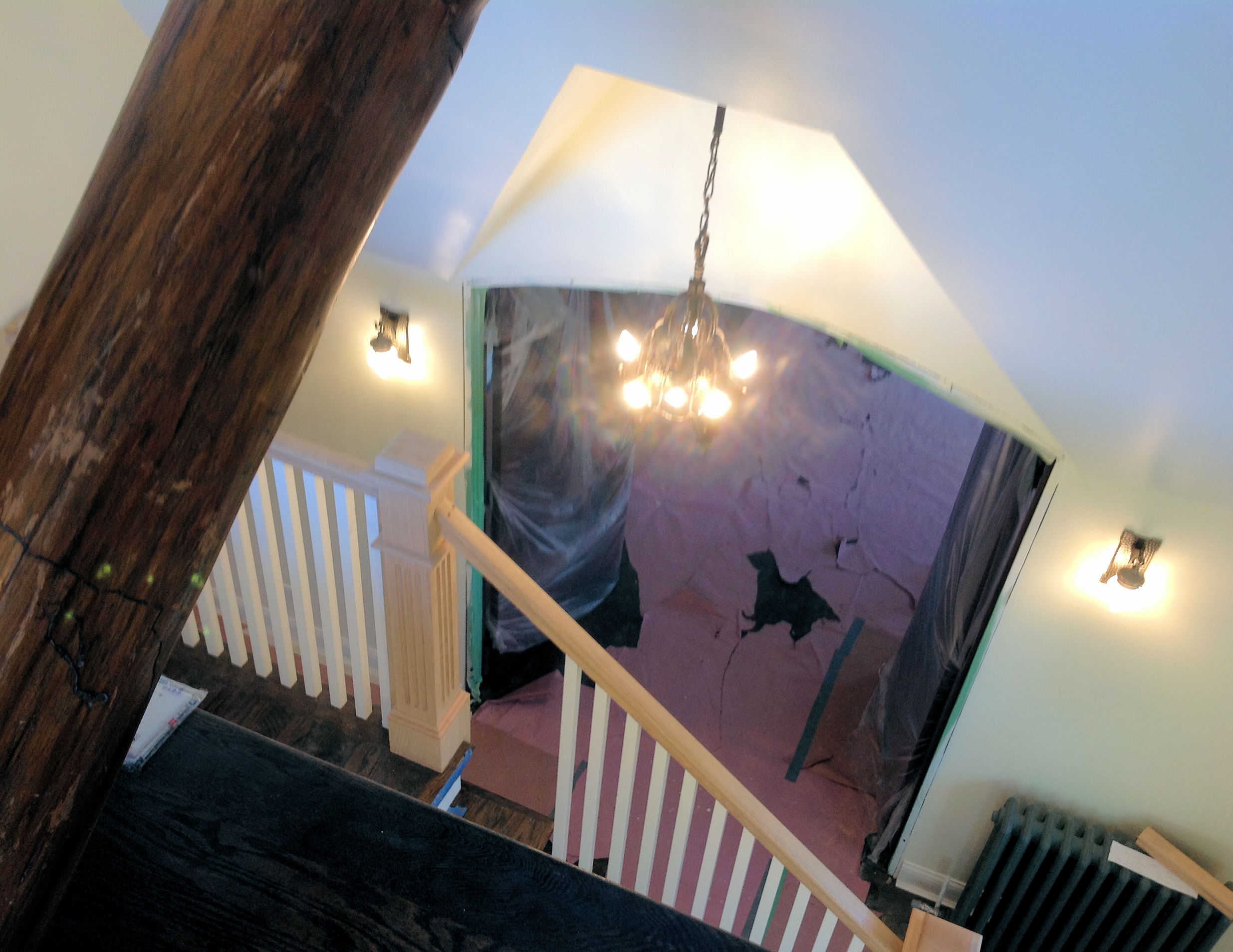 open stair attic