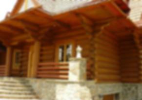 side vie of new Tatra Log Home Construction