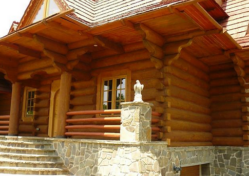 side vie of new Tatra Log Home Construction